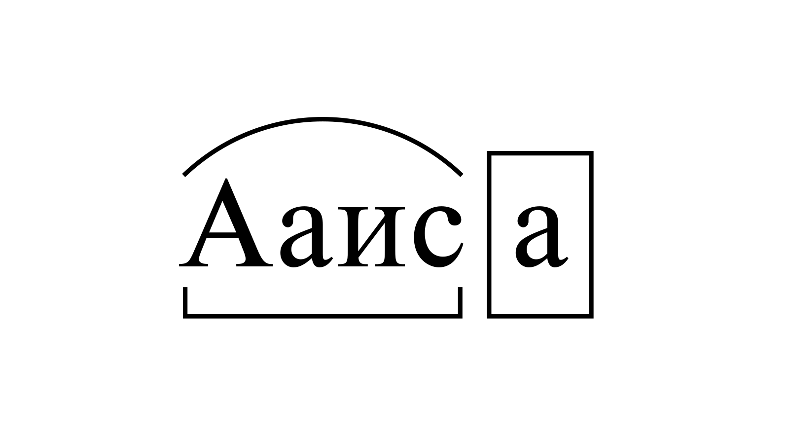 Разбор слова «Ааиса» по составу