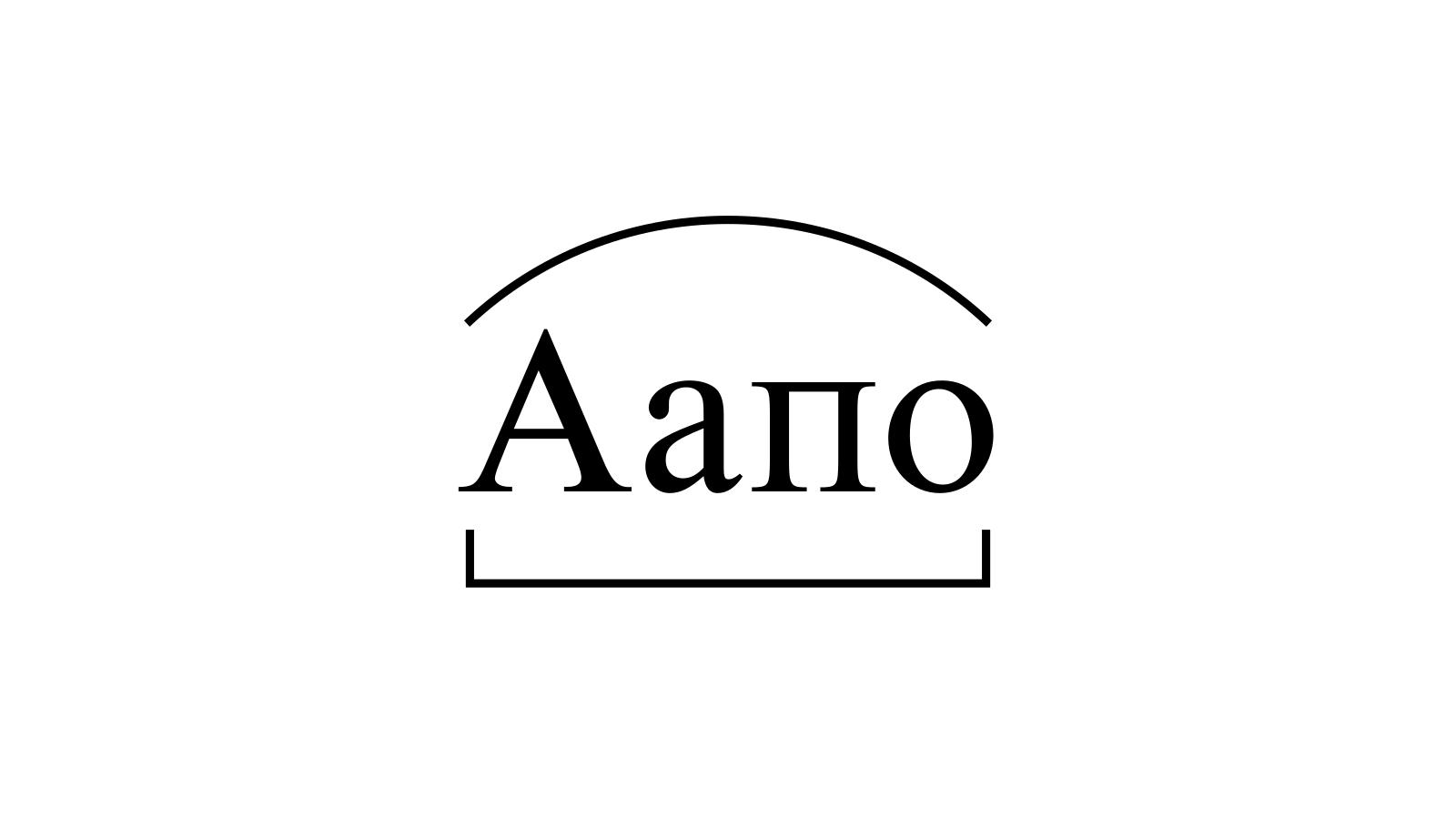 Разбор слова «Аапо» по составу