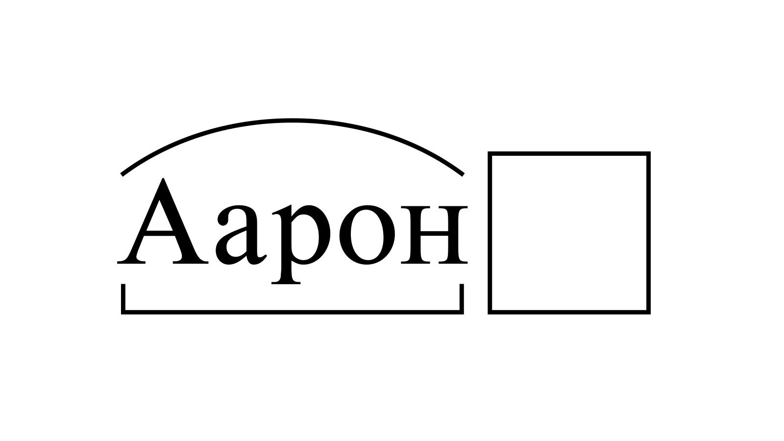Разбор слова «Аарон» по составу