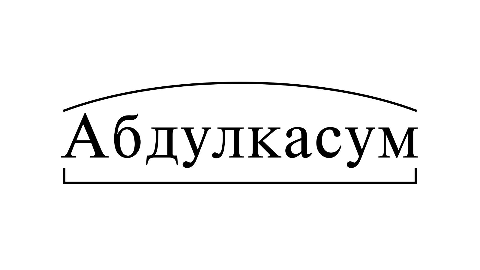 Разбор слова «Абдулкасум» по составу