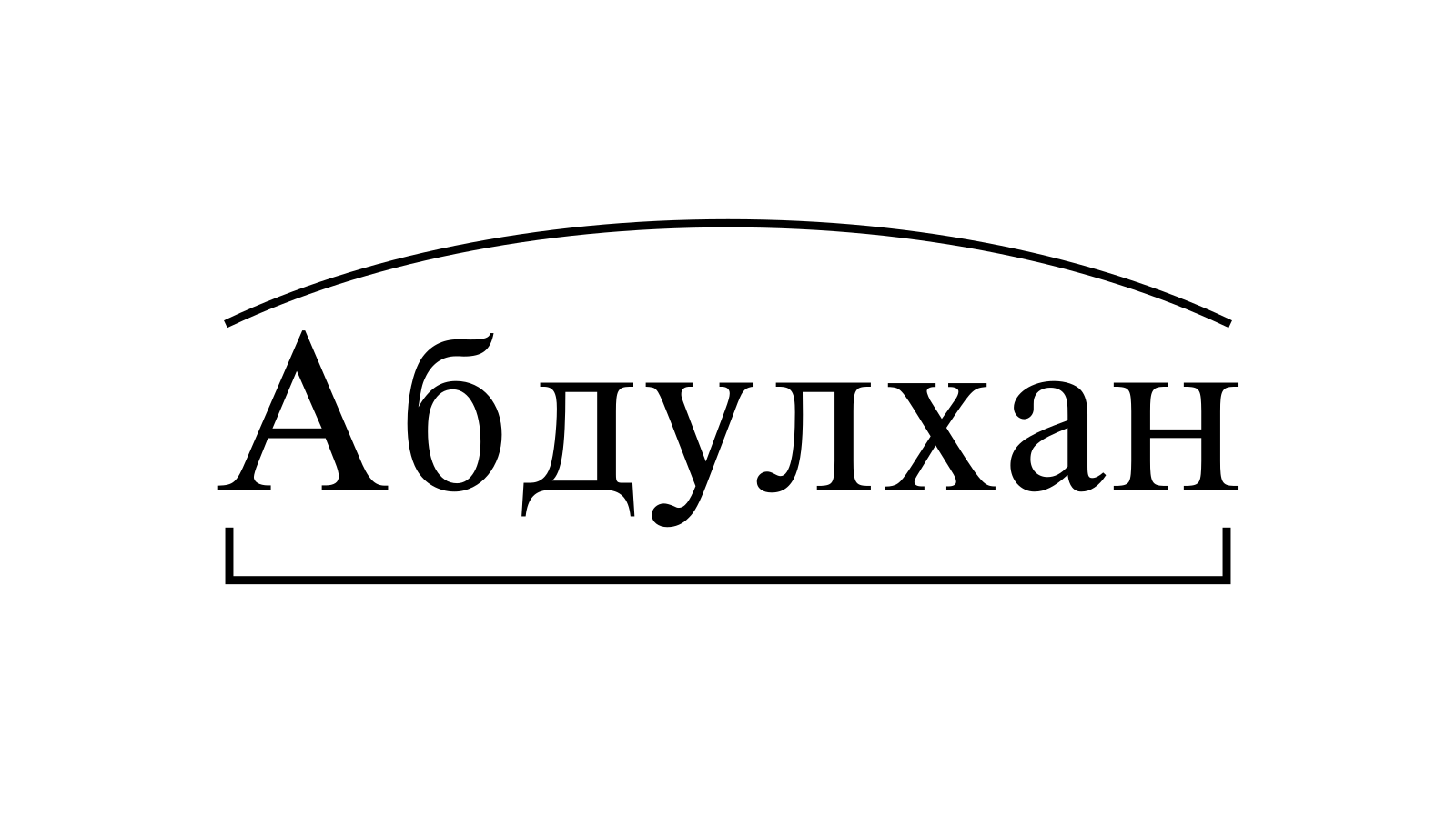Разбор слова «Абдулхан» по составу