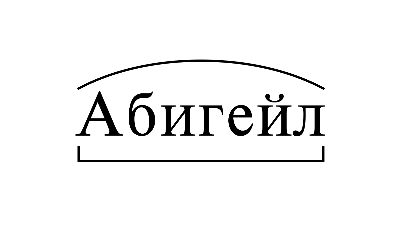 Разбор слова «Абигейл» по составу