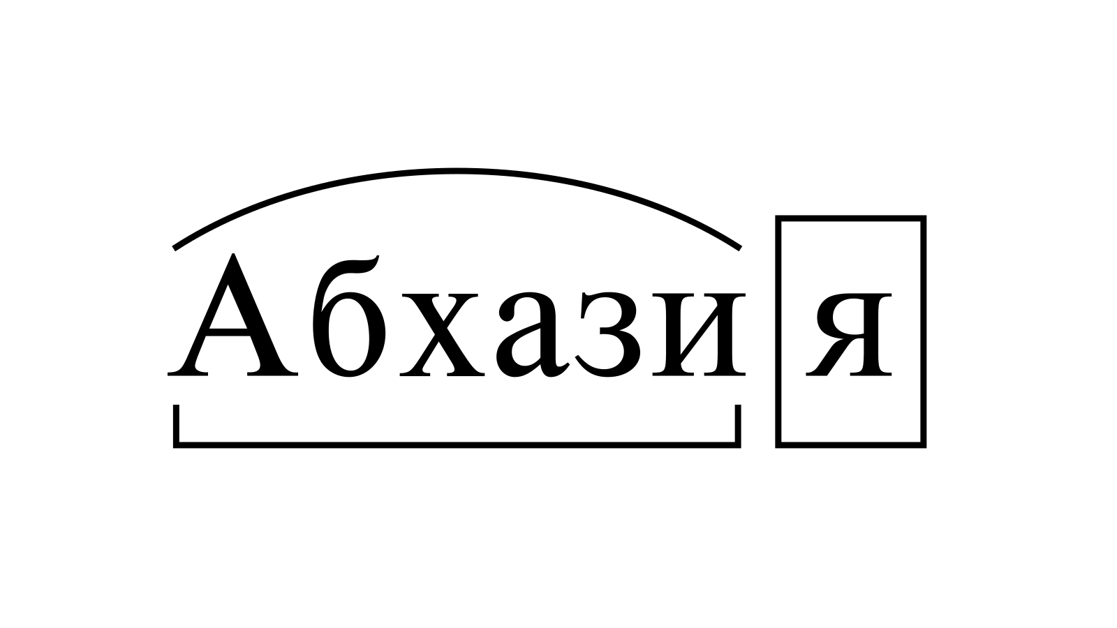 Разбор слова «Абхазия» по составу