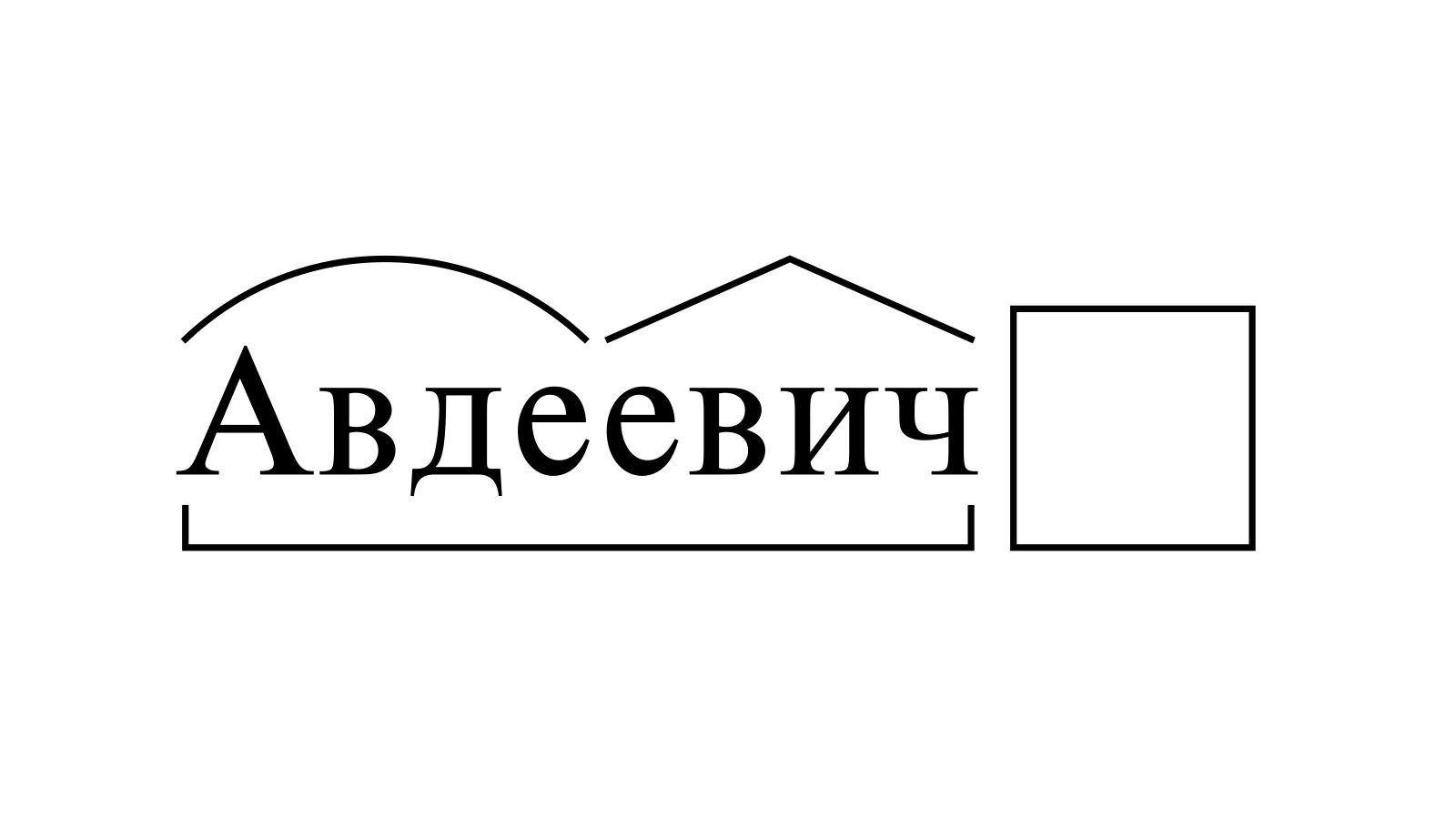 Разбор слова «Авдеевич» по составу