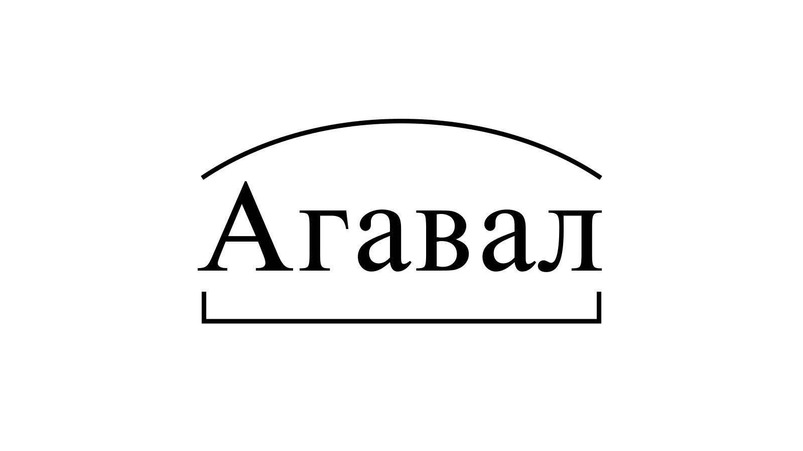 Разбор слова «Агавал» по составу