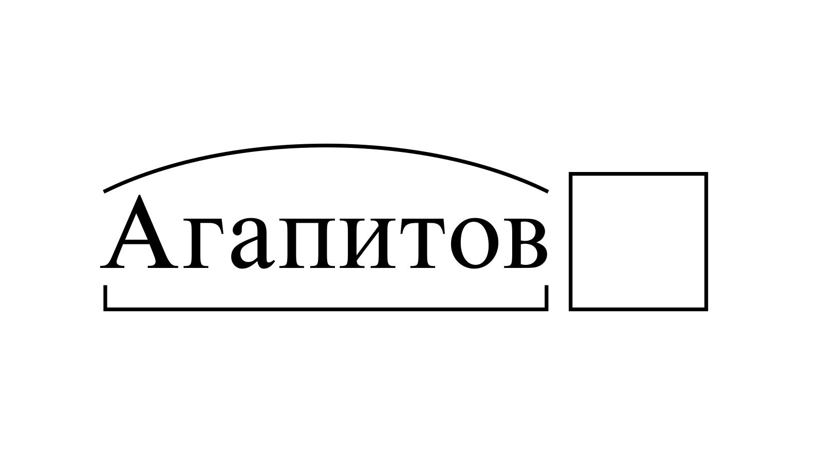 Разбор слова «Агапитов» по составу