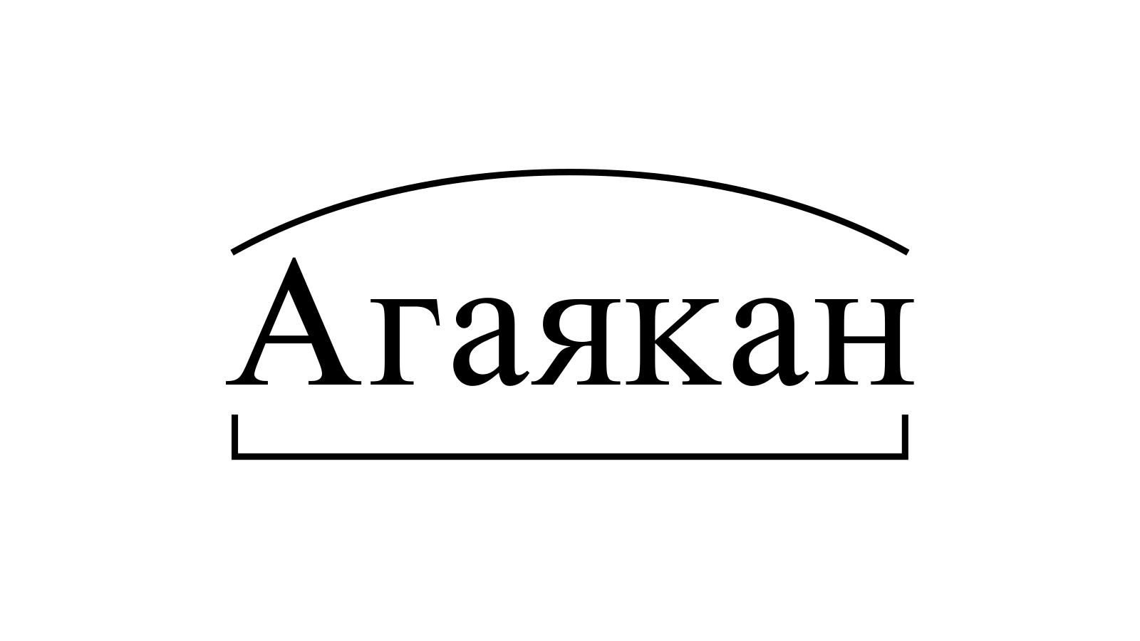 Разбор слова «Агаякан» по составу