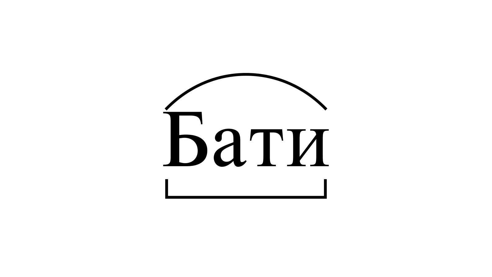 Разбор слова «Бати» по составу