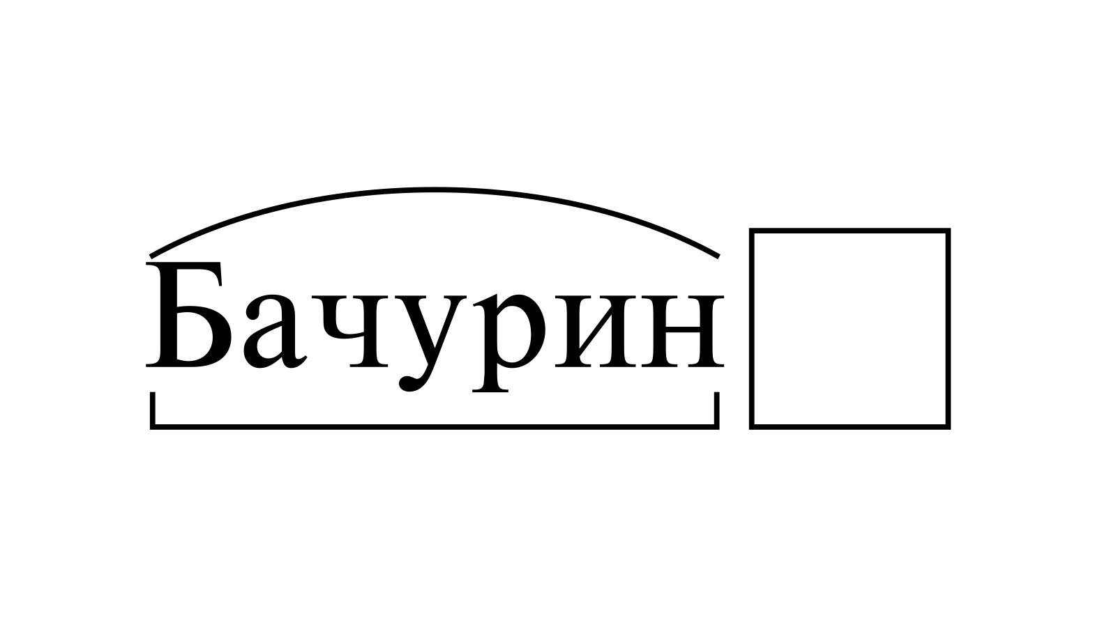 Разбор слова «Бачурин» по составу