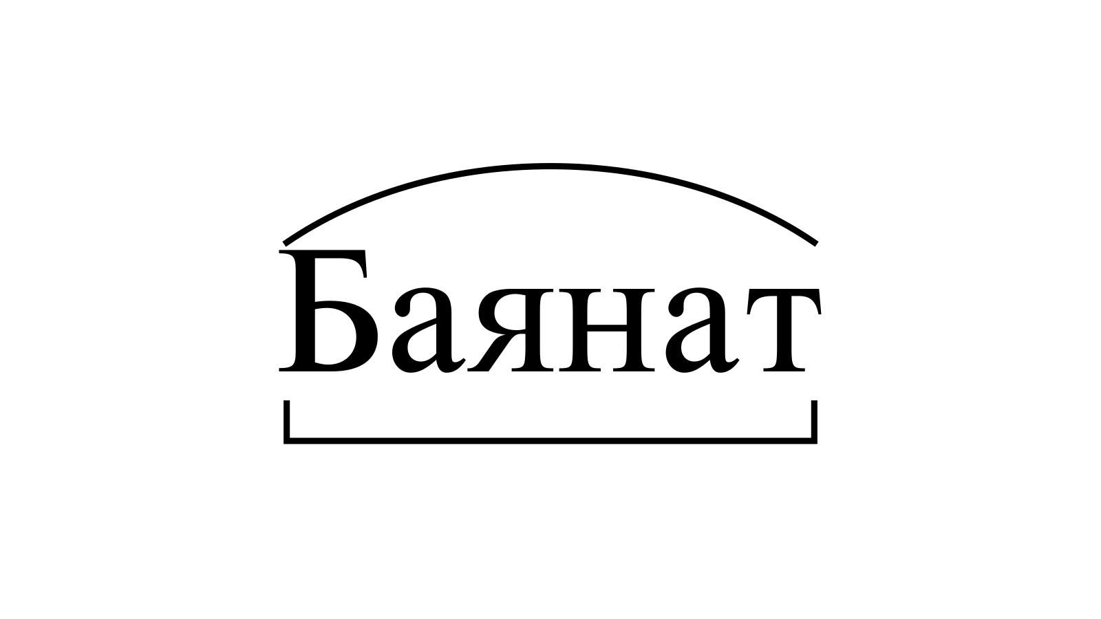 Разбор слова «Баянат» по составу
