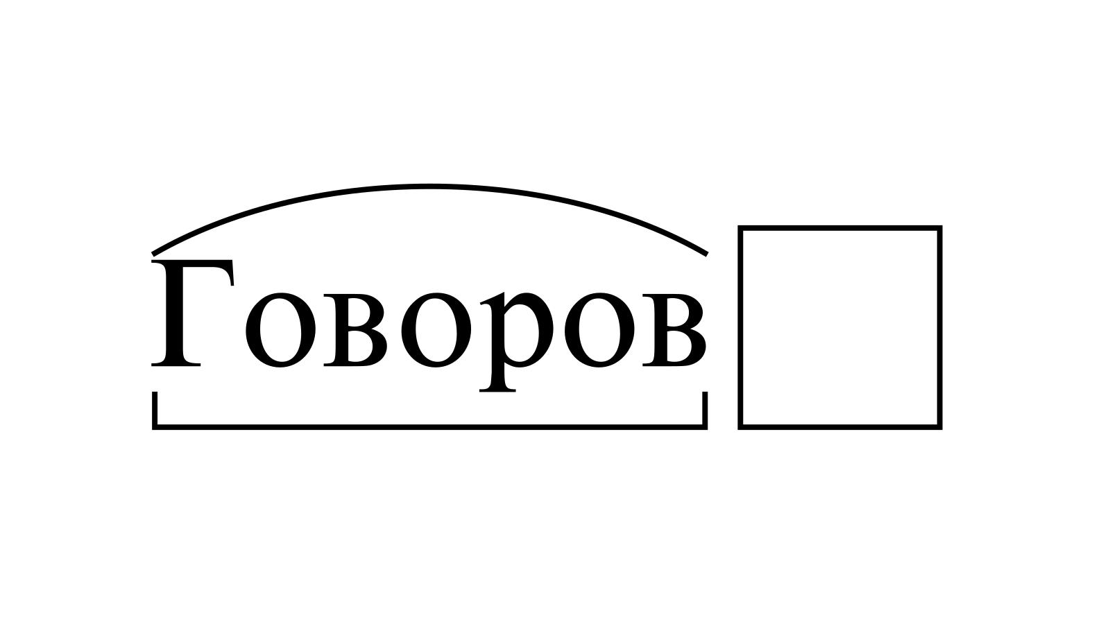 Разбор слова «Говоров» по составу