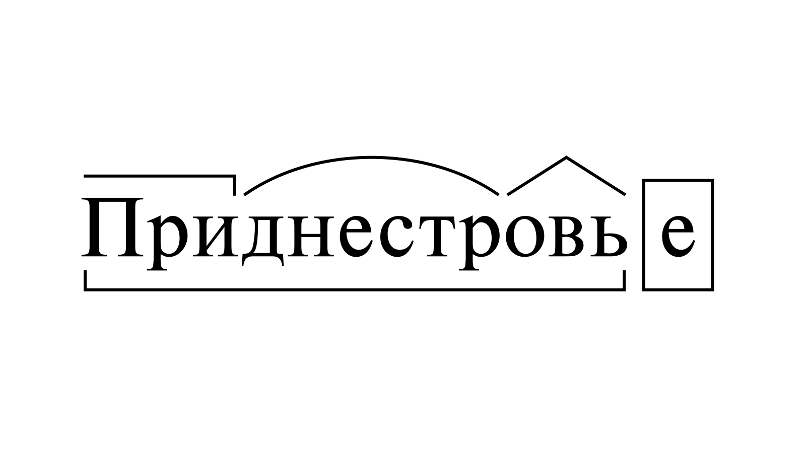 Разбор слова «Приднестровье» по составу