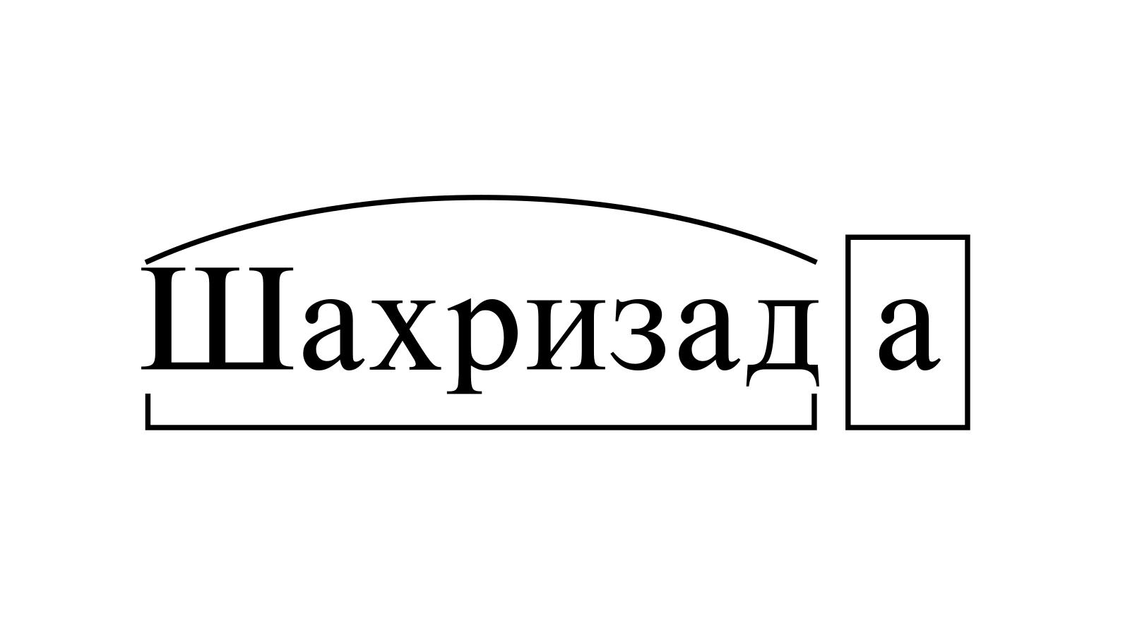 Разбор слова «Шахризада» по составу