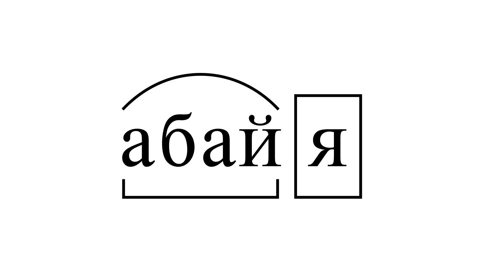 Разбор слова «абайя» по составу
