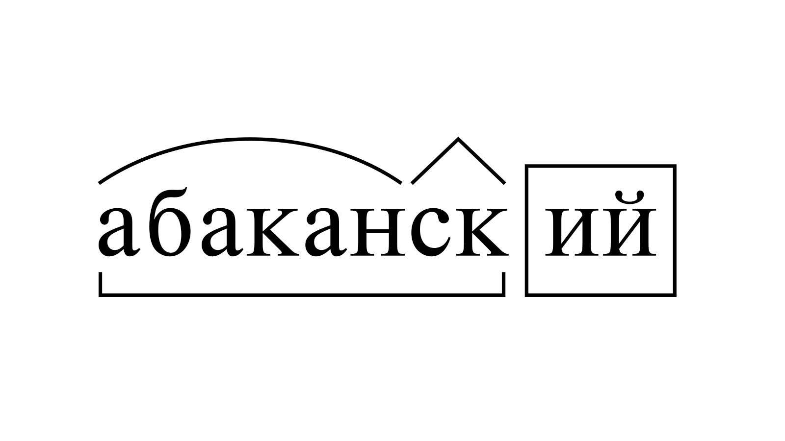 Разбор слова «абаканский» по составу