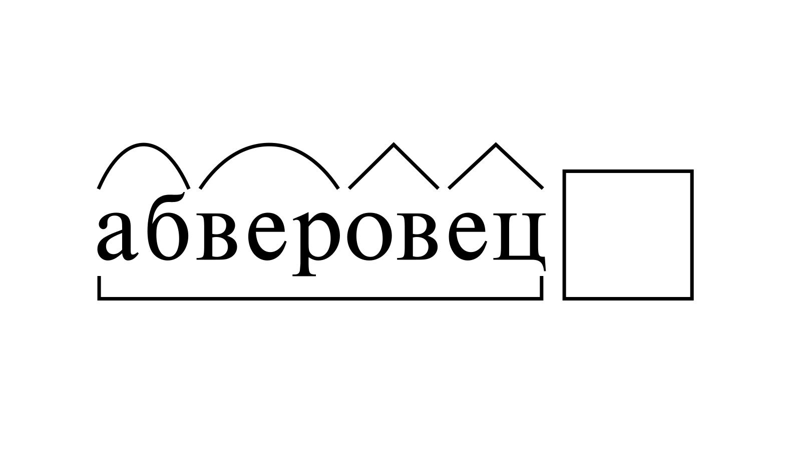 Разбор слова «абверовец» по составу