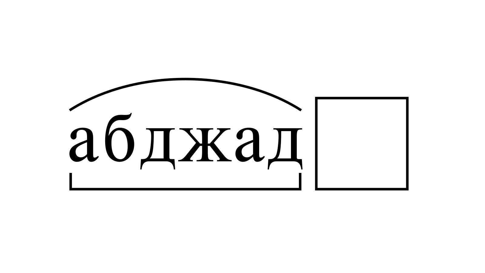 Разбор слова «абджад» по составу