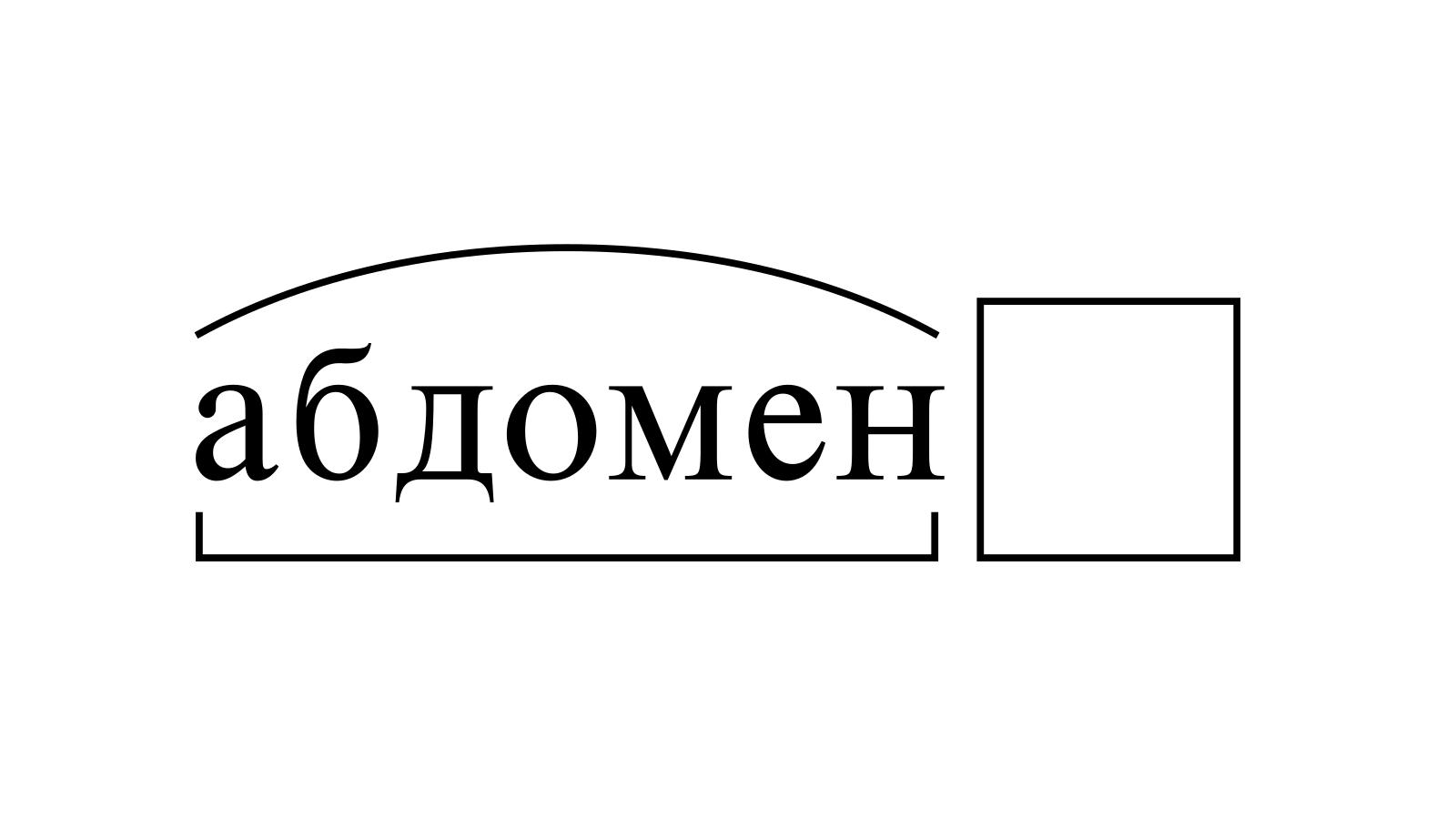 Разбор слова «абдомен» по составу
