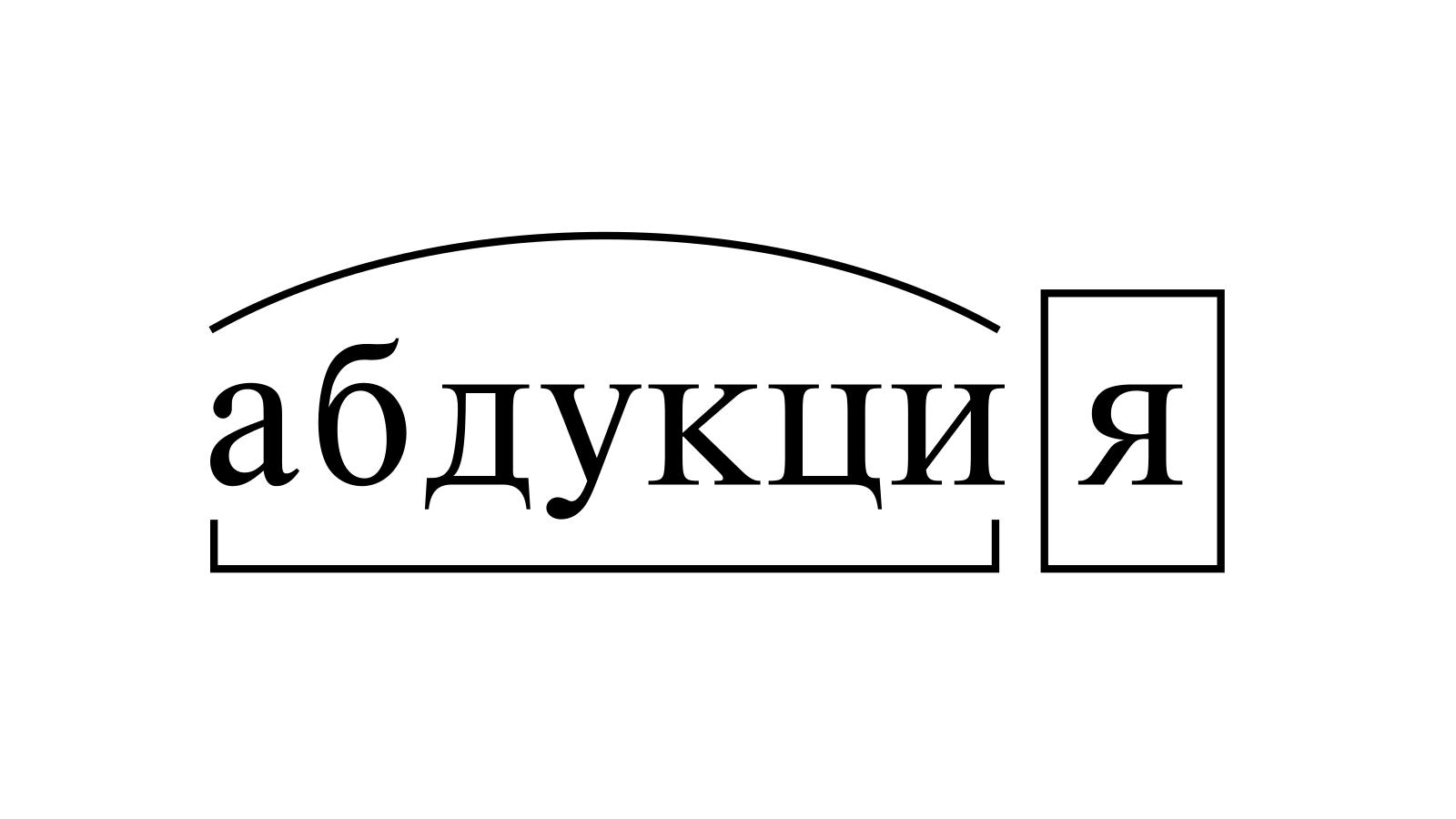 Разбор слова «абдукция» по составу