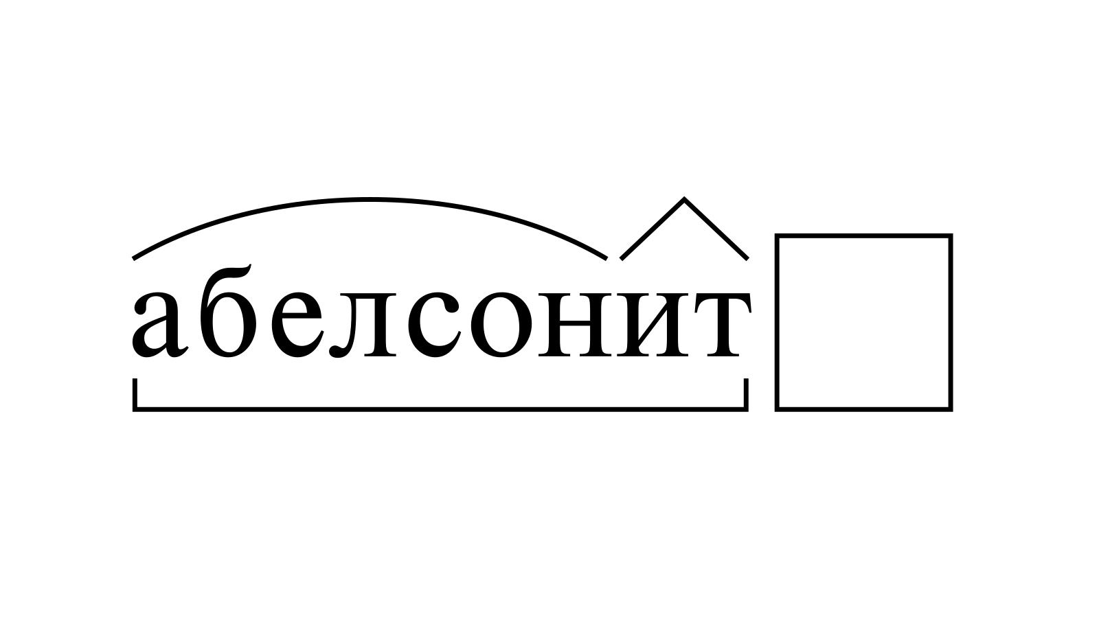 Разбор слова «абелсонит» по составу