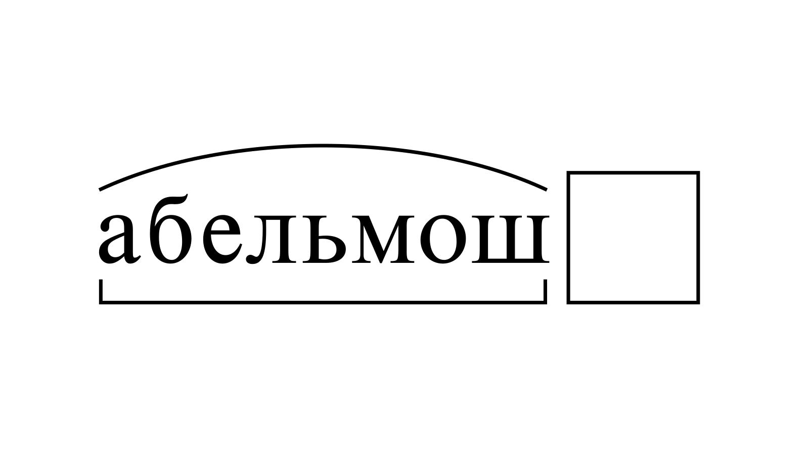 Разбор слова «абельмош» по составу