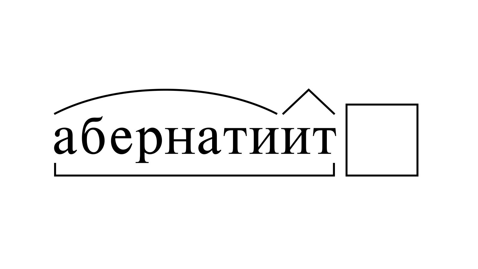 Разбор слова «абернатиит» по составу