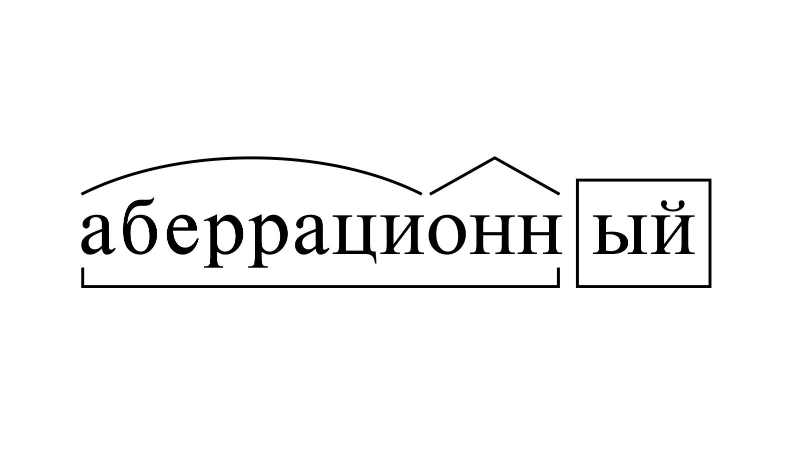 Разбор слова «аберрационный» по составу