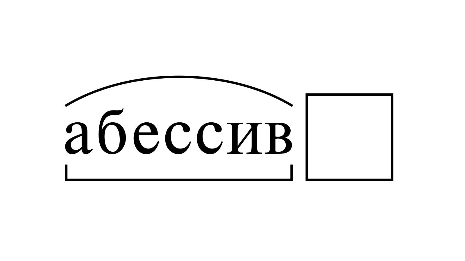 Разбор слова «абессив» по составу