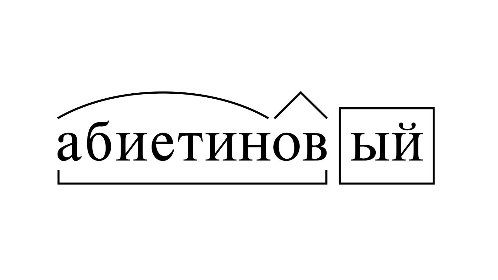 Разбор слова «абиетиновый» по составу