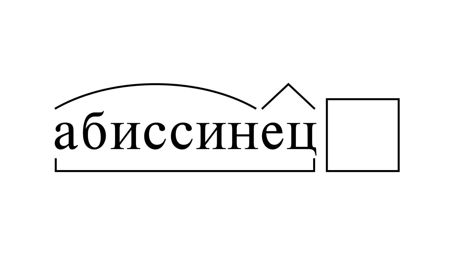 Разбор слова «абиссинец» по составу