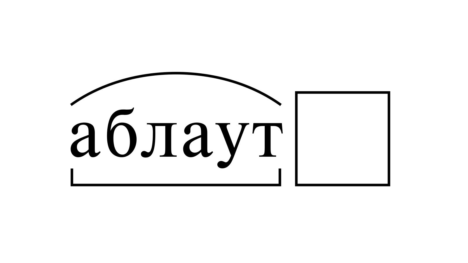 Разбор слова «аблаут» по составу