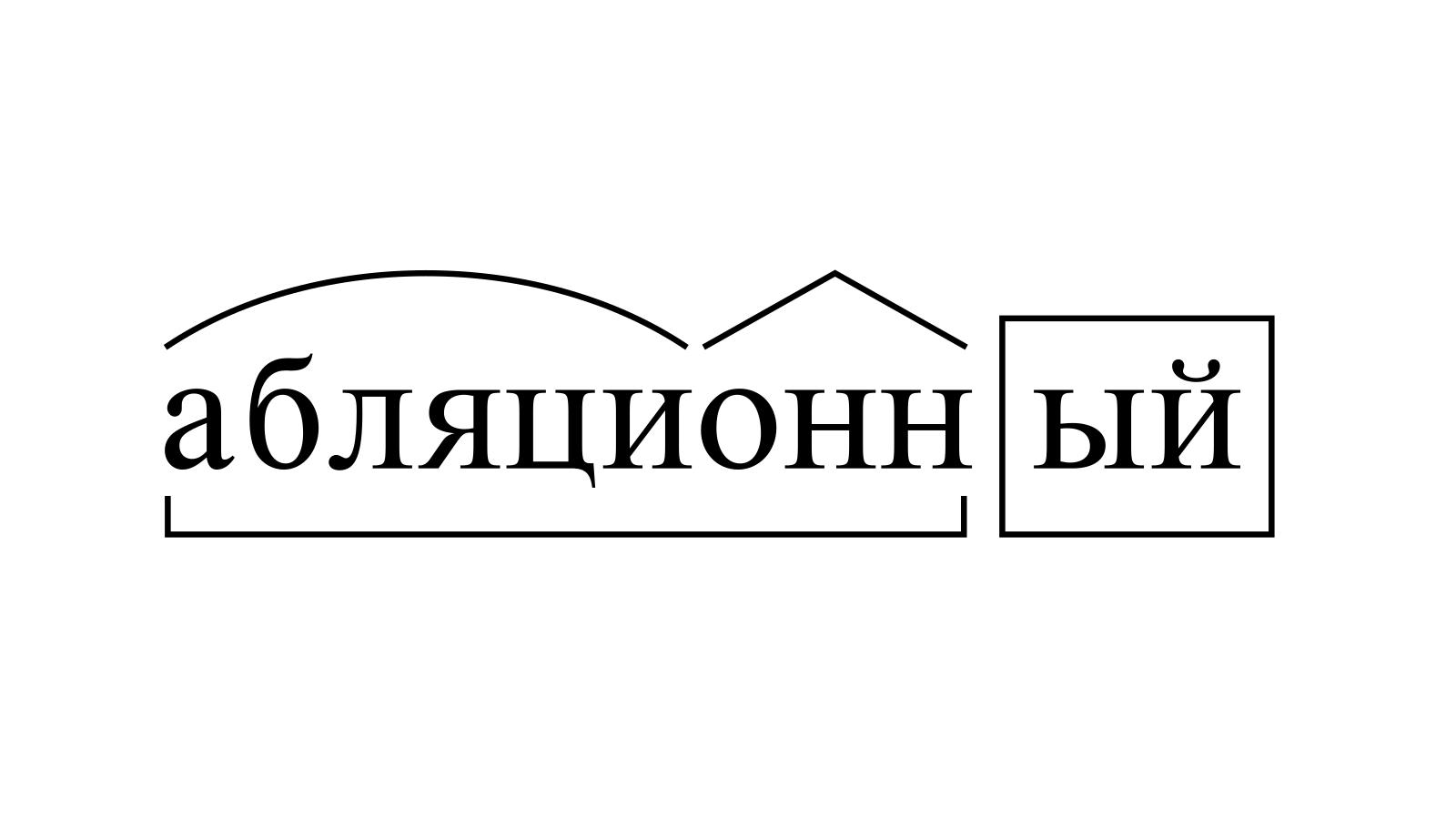 Разбор слова «абляционный» по составу