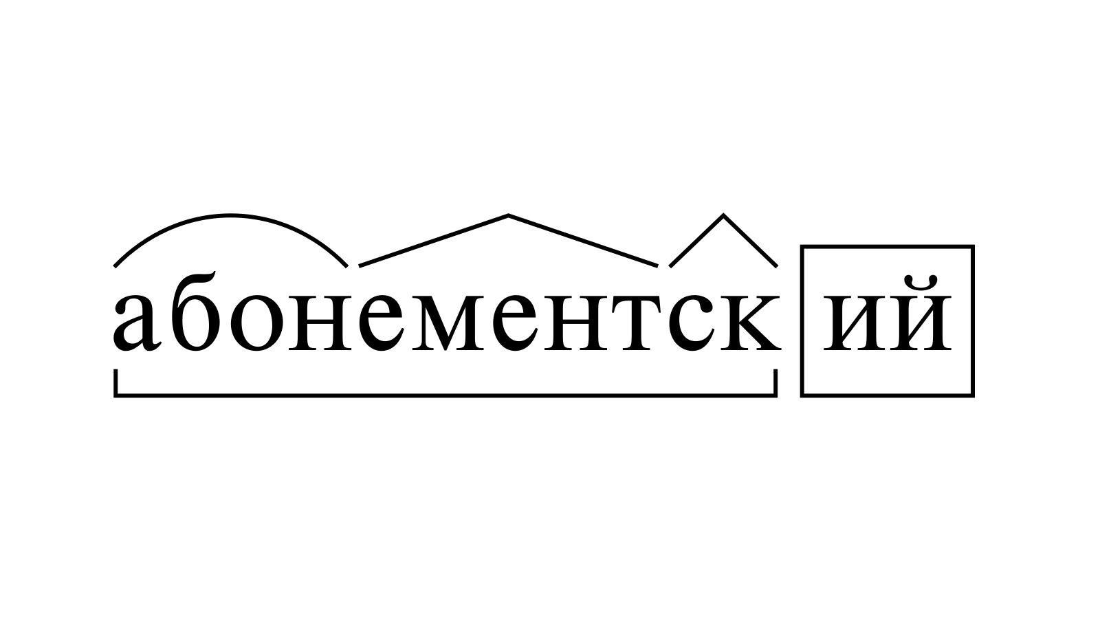 Разбор слова «абонементский» по составу