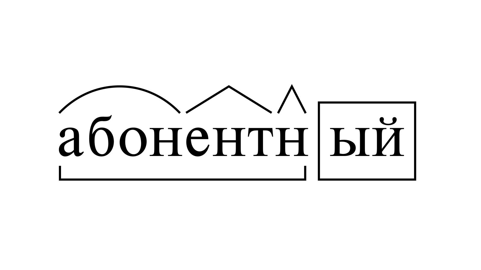 Разбор слова «абонентный» по составу