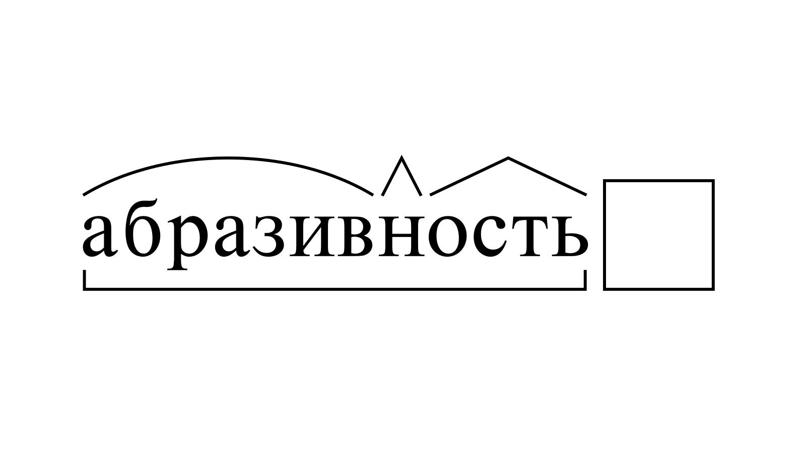 Разбор слова «абразивность» по составу