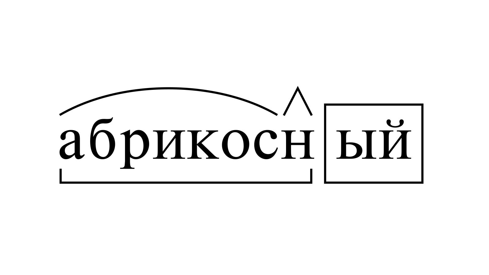 Разбор слова «абрикосный» по составу