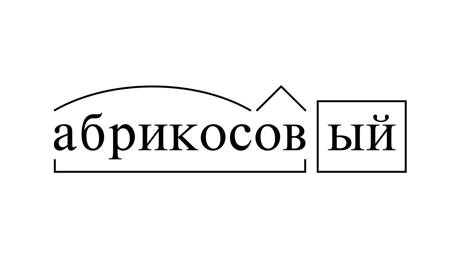 Разбор слова «абрикосовый» по составу