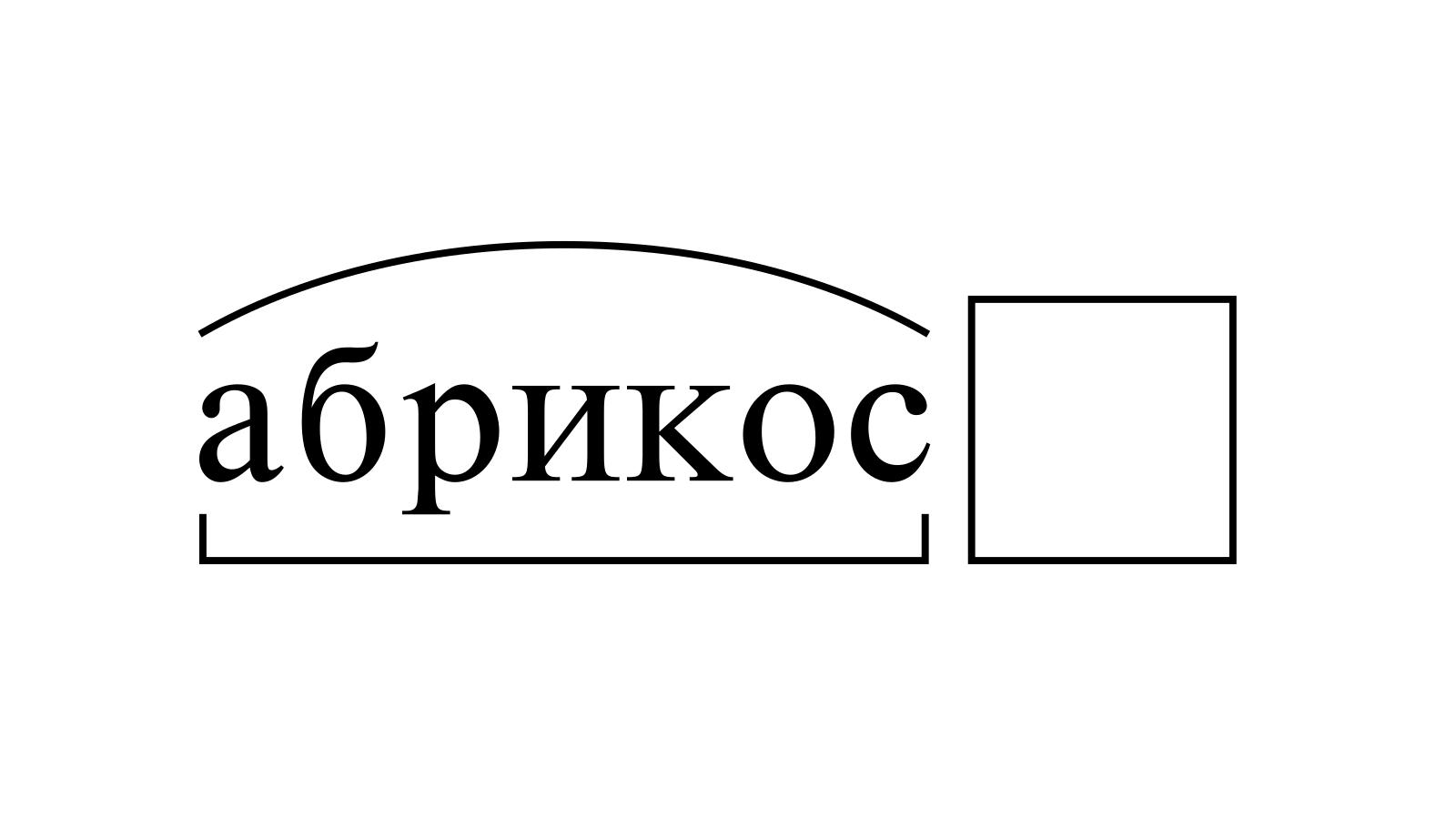 Разбор слова «абрикос» по составу