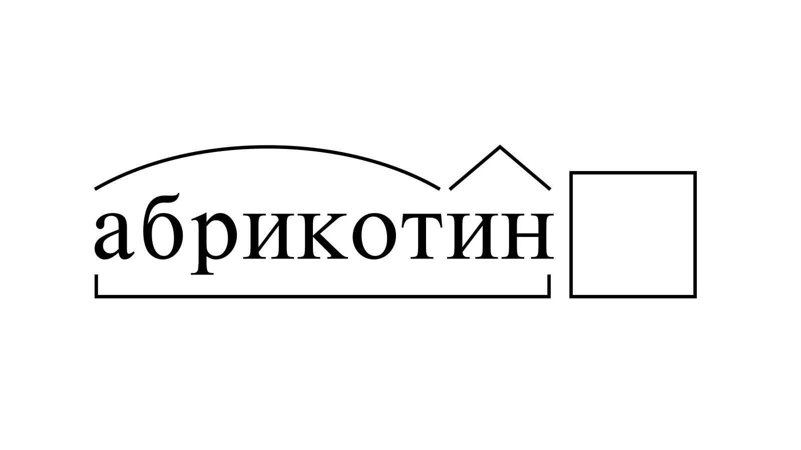 Разбор слова «абрикотин» по составу