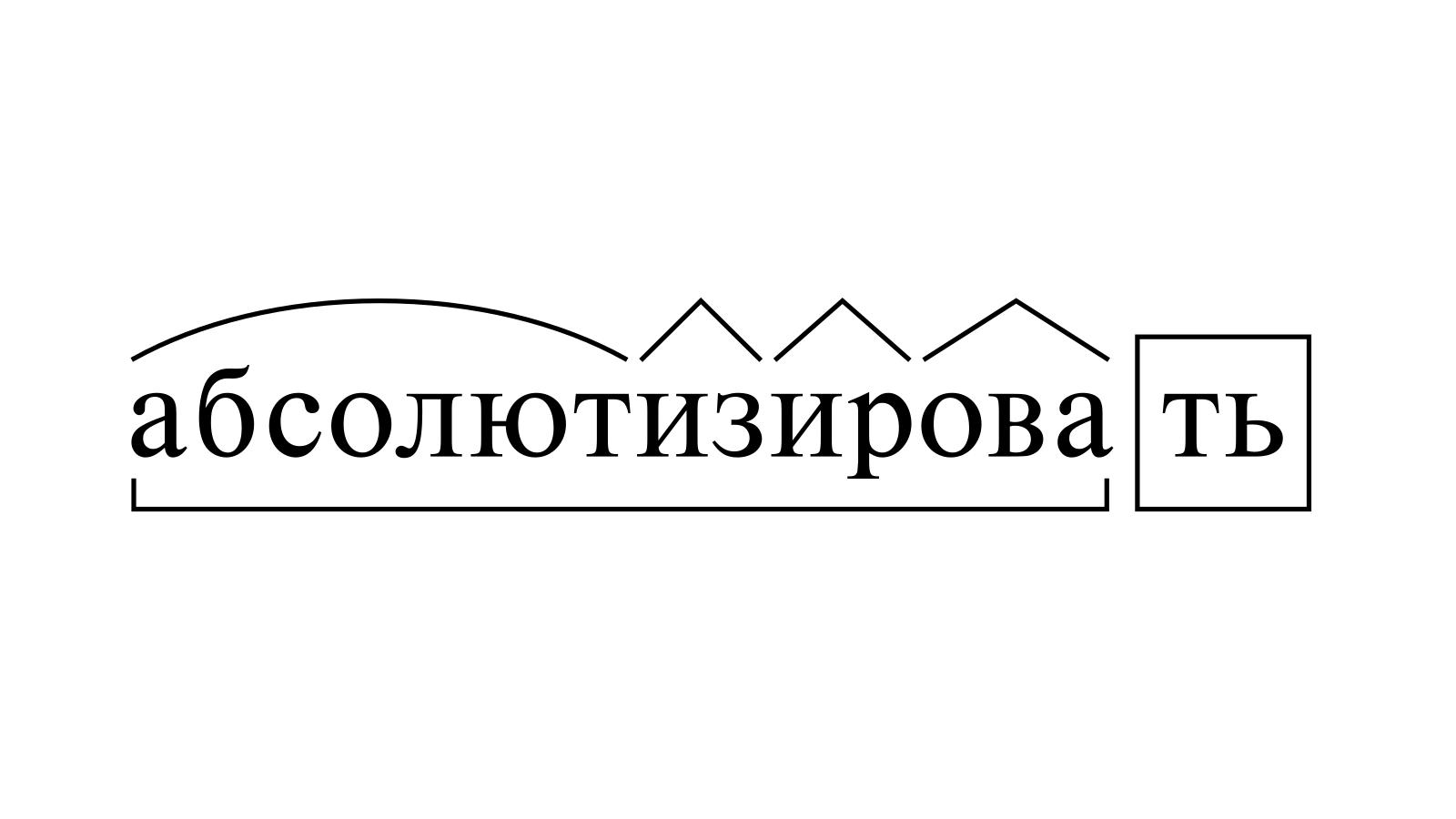 Разбор слова «абсолютизировать» по составу