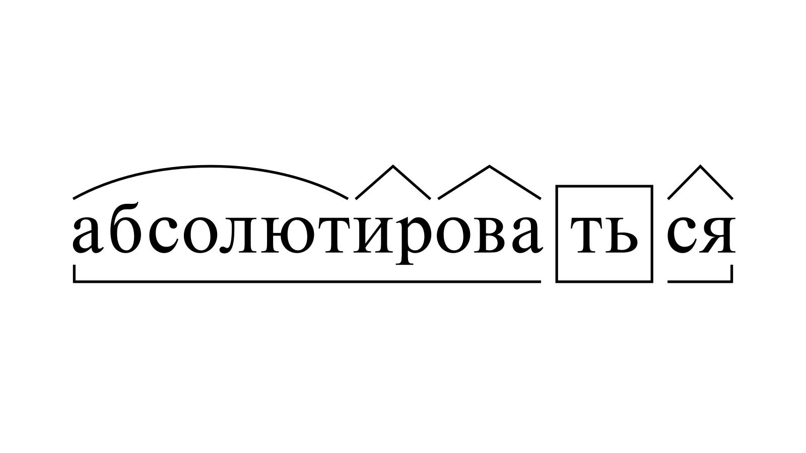 Разбор слова «абсолютироваться» по составу