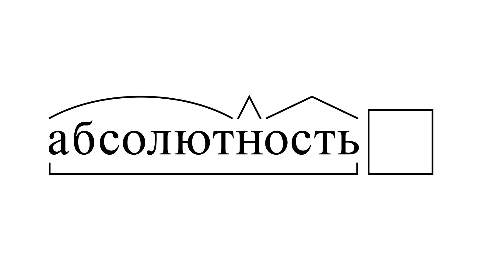 Разбор слова «абсолютность» по составу