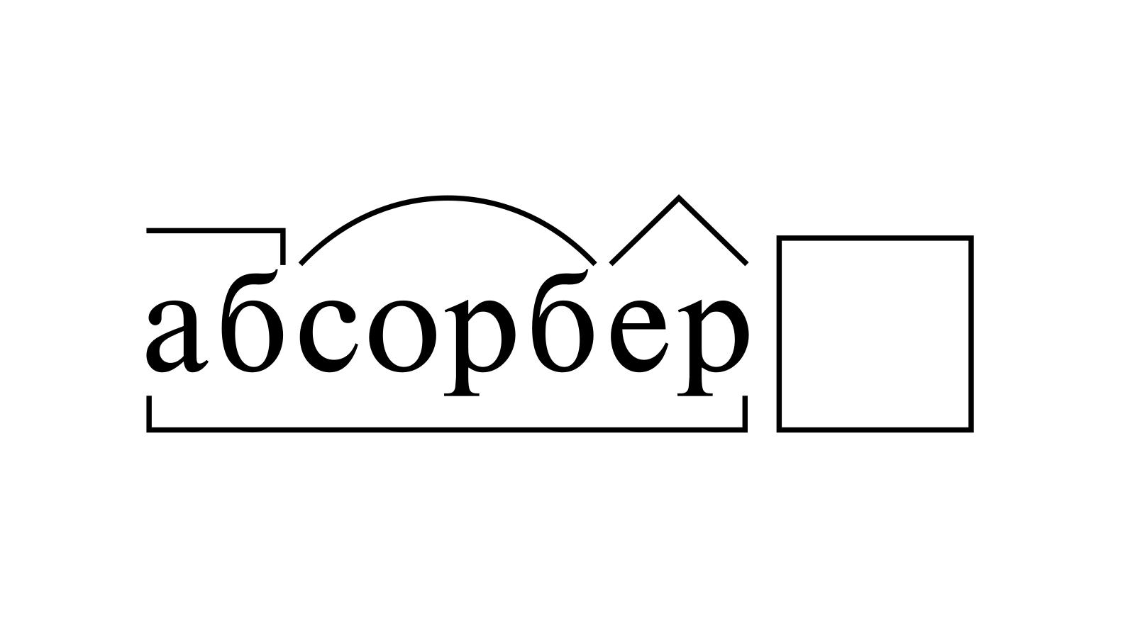 Разбор слова «абсорбер» по составу