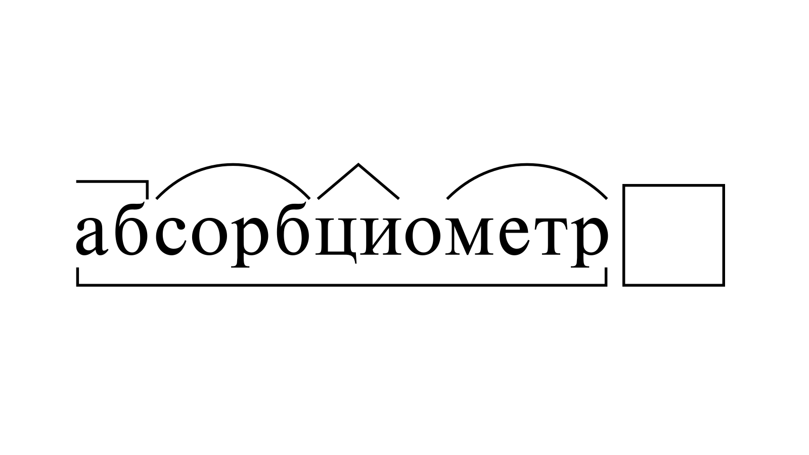Разбор слова «абсорбциометр» по составу