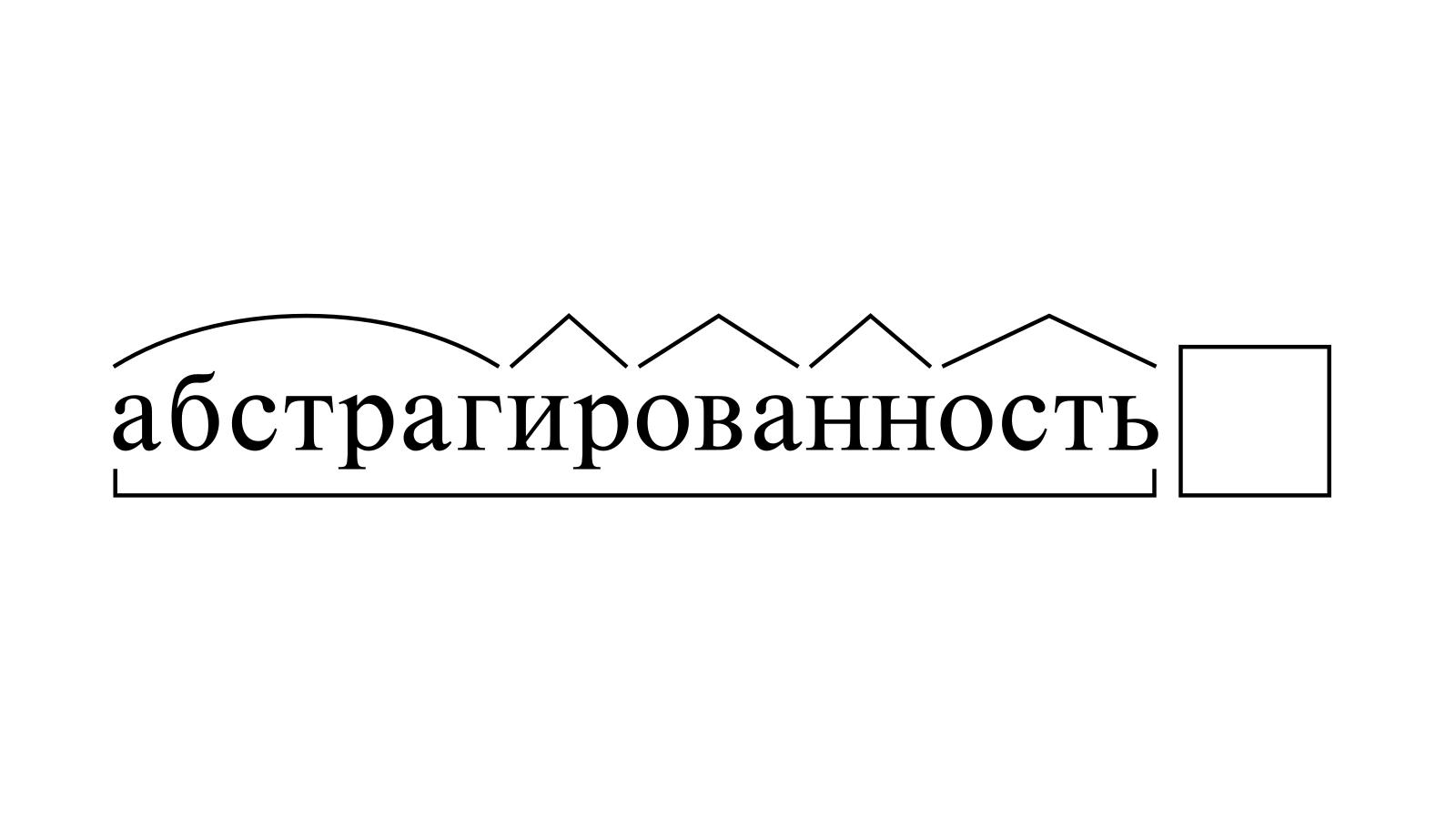 Разбор слова «абстрагированность» по составу