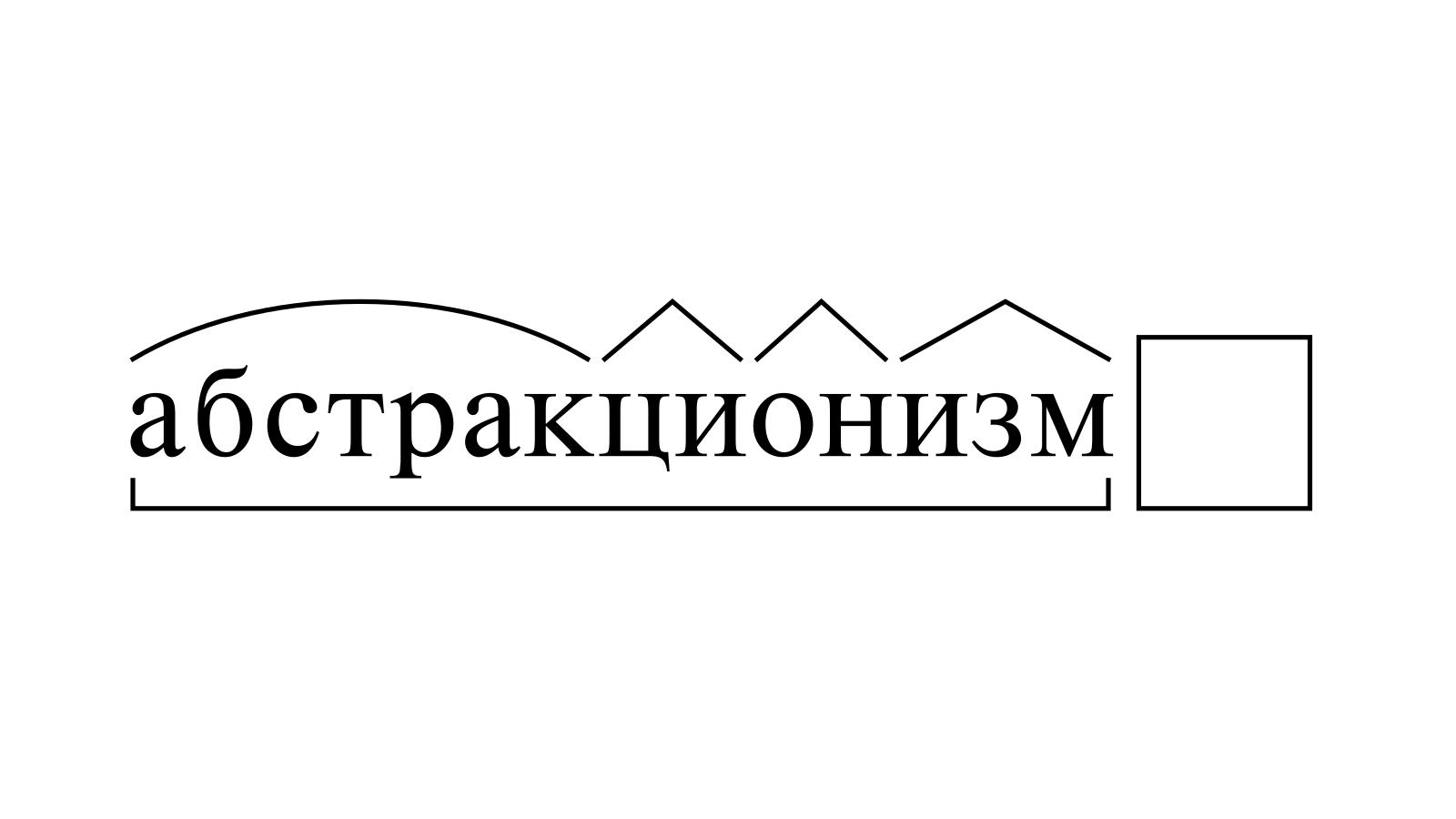 Разбор слова «абстракционизм» по составу