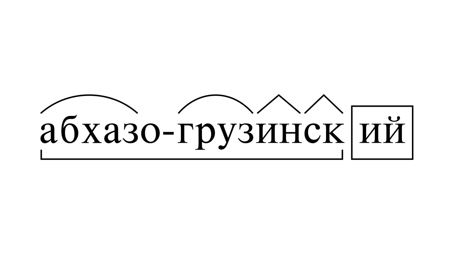 Разбор слова «абхазо-грузинский» по составу