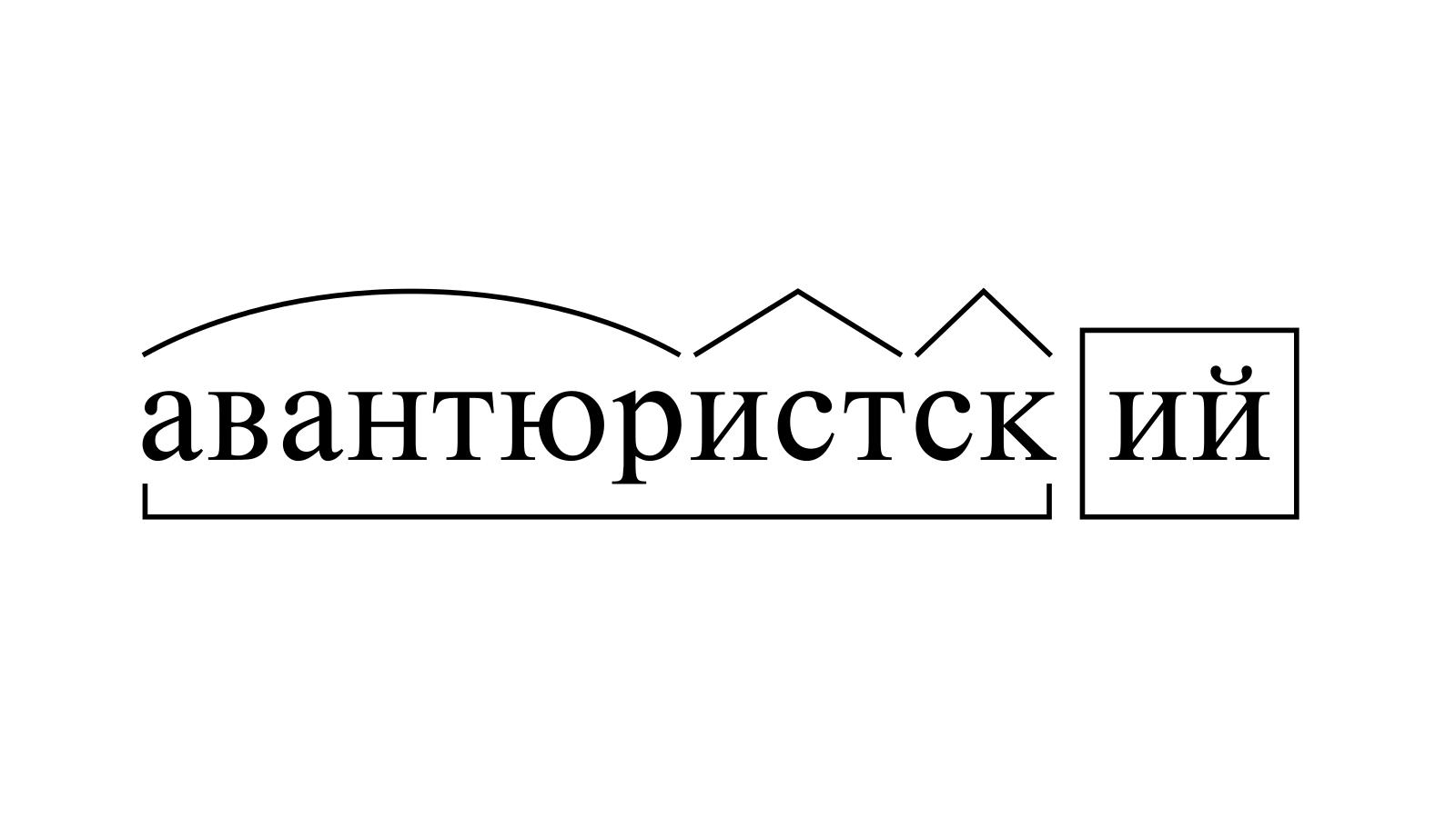 Разбор слова «авантюристский» по составу