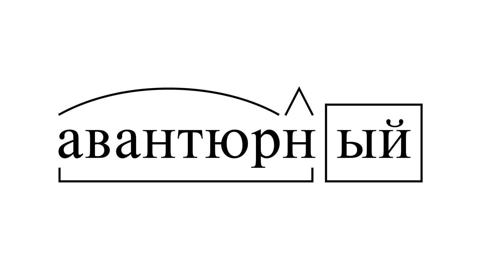 Разбор слова «авантюрный» по составу
