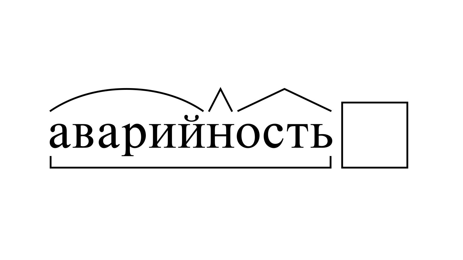 Разбор слова «аварийность» по составу